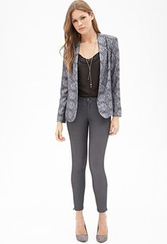 Abstract Print Draped Blazer | Forever 21 - 2055879152