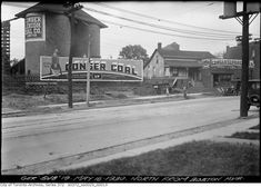 North from Boston Avenue Photographer: Arthur Goss May 1930 Hub Home, Brick Yard, Brick Companies, Real Estate Values, Adaptive Reuse, Gas Station, Aerial View, Vintage Photography, Really Cool Stuff