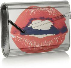 Jimmy Choo Candy Lip Mirror Acrylic Clutch-1