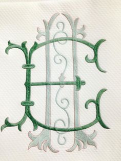 Favorite color combo in monogram form Monogram Design, Monogram Styles, Monogram Logo, Monogram Letters, Embroidery Monogram Fonts, Embroidery Designs, Linens And Lace, Textiles, Hand Lettering