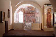 Фреска в северной апсиде нижнего храма собора Феодоровской Божией Матери в Санкт-Петербурге Роспись о. Зинона