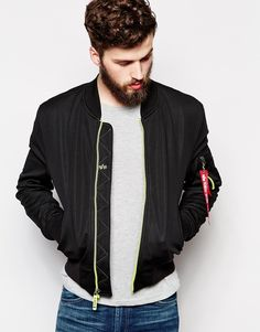 Alpha Industries Bomber Jacket in Shell Fabric