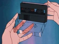 ​raw by Aerealis cover art Cassette, hands, aesthetic, retro future, retro art Aesthetic Gif, Retro Aesthetic, Aesthetic Photo, Aesthetic Pictures, Aesthetic Wallpapers, Japanese Aesthetic, Aesthetic Backgrounds, Old Anime, Anime Art