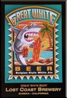 Cerveja Lost Coast Great White, estilo Witbier, produzida por Lost Coast Brewery & Cafe, Estados Unidos. 4.8% ABV de álcool.