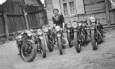 Delivery Consignment of 1930s FN Motorcycles Classic Motorcycle Pictures