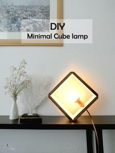 DIY: minimal wooden cube lamp