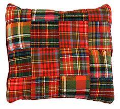 Plaid pillow....