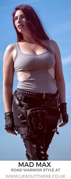 Mad Max, explorer, road warrior, badass postapocalyptic style. Click to see more!  . . . . #madmax #explorer #adventure #postapocalyptic #wasteland #laracroft