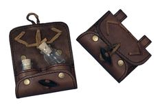 LARP Leather Potion Holder - with two Bottles - TheVikingStore.co.uk