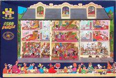 HOTEL SHAPED No. of pieces: 1500 Size: 90 x 60 cm Artist: Jan van Haasteren