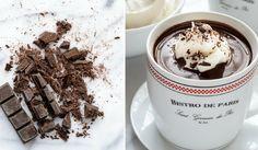 Pravá horká čokoláda se šlehačkou Kitchen Hacks, Glass Of Milk, Smoothies, Punk, Drinks, Breakfast, Tableware, Recipes, Food