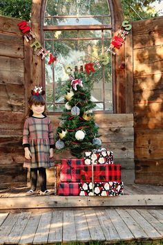 Gingerbread Plaid Swing Dress, the perfect holiday outfit for your little one. Image by @qianakphotography