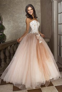 $140   Ball Gown Strapless Floor-length Tulle Red Prom Dresses #USALF287