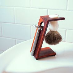 Wood Shaving Stand for XL Safety Razors Burmese by MHANDworks, $40.00