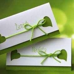 ♥ Spoutáni láskou - jablíčkové ♥ Jmenovky 8 cm x 4 cm. Place Cards, Place Card Holders, Scrapbook, Gifts, Wedding, Inspiration, Decor, Invitations, Valentines Day Weddings