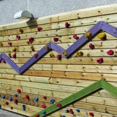 Climbing can be a great way to increase coordination and proprioception. I love these traversing walls which would be great for a clinic or school.