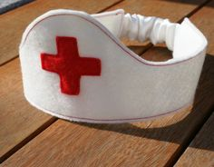 Nurse Crown /White /Red / Felt / Doctor / Dressup by Schooza