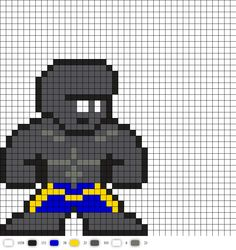 Blok from legion of superheroes DC Perler Bead Pattern