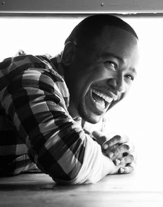 Columbus Short's smile is contagious.  #Scandal