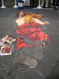 3D Street Painting - 'Persephone Falling into Hades'