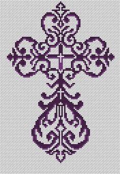 Cross Stitch Borders Everything Cross Stitch - Filigree Cross Religious Cross Stitch Patterns, Cross Stitch Alphabet Patterns, Cross Stitch Bookmarks, Cross Stitch Borders, Cross Patterns, Cross Stitch Flowers, Cross Stitch Designs, Cross Stitch Charts, Cross Stitching