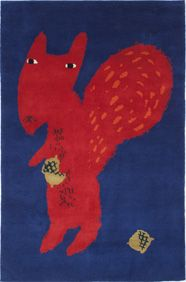 Squirrel rug for Node - showing at the design museum London - come and see