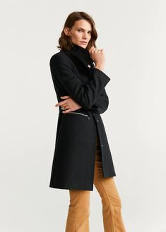 Discover the latest trends in Mango fashion, footwear and accessories. Shop the best outfits for this season at our online store. Sweat Shirt, Parka, Mango France, Clothes 2019, Cape Coat, Mango Fashion, Wool Fabric, Straight Cut, Women's Coats