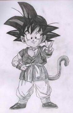 Kid Goku <3 Dragon Ball Z, Dragon Z, Goku Drawing, Manga Drawing, Goku Angel, Arte Dark Souls, Gravure Laser, Kid Goku, Desenho Tattoo