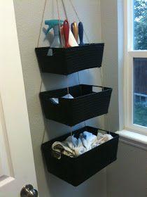 ~*~ bright beginnings ~*~: Hanging Basket Storage