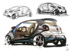 Smart Forjoy Concept Design Sketch Gallery