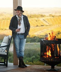 Francis Mallman is considered Argentina's top chef. We takes a tour of his beautiful home in the countryside in a small village in Uraguy. Francis Mallman, Open Fire Cooking, Stone Soup, Soup Kitchen, People Of Interest, Wild Style, Outdoor Cooking, Wine Recipes, Grilling