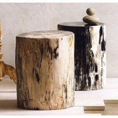 Roost Petrified Wood Stools are made from polished sections of these fossilized logs. The stools are naturally unique and vary in dimension and color. Wood Slab, Teak Wood, Farmhouse Furniture, Rustic Furniture, Furniture Design, Diy Furniture, Traditional Furniture, Contemporary Furniture, Tree Stump Table