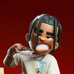 Swag Cartoon, Dope Cartoon Art, Dope Cartoons, Cartoon Pics, Travis Scott Art, Kylie Travis, Travis Scott Iphone Wallpaper, Travis Scott Wallpapers, Hype Wallpaper