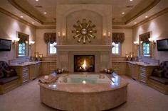 51 Mesmerizing master bathrooms with fireplaces!!!