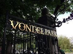 The famous Vondelpark in Amsterdam, Netherlands