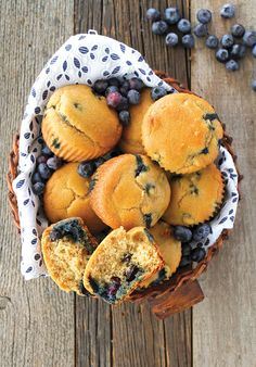 These paleo-ized blueberry muffins are perfect to make during blueberry season, but frozen blueberries work just as well!