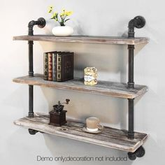 Awesome 3 Level Rustic Bookshelf Industrial Pipe and Wood Shelf Vintage Look Wall Storage The post 3 Level Rustic Bookshelf Industrial Pipe and Wood Shelf Vintage Look Wall Storag… ..