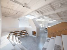 Designed for a creative media agency of thirty workers, this office contains a menagerie of typological hybrids, which together engender a unique interior wo...