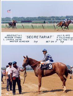 Secretariat -maiden win photo
