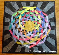 Fireworks quilt  Betty Holroyd Tampa, FL My version of Dancing Ribbons pattern by Cindy Rounds Richards