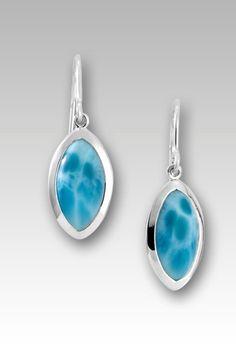 Larimarket - MarahLago Matera Collection Larimar Earrings, $219.00 (http://www.larimarket.com/marahlago-matera-collection-larimar-earrings/)