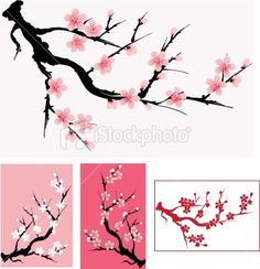 cherry tree vector google search wall art pinterest cherry tree and cherries. Black Bedroom Furniture Sets. Home Design Ideas