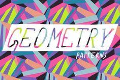 Colorful geometric pattern set by mystel on Creative Market