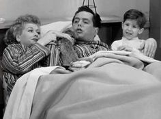 "The Ricardo Family on the ""I Love Lucy"" television show ~ Lucy, Ricky and Little Ricky."