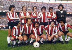 1979 River Plate Arriba: Passarella, Merlo, Saporiti, Pavoni, Lopez, Fillol, Abajo: Pedro Gonzalez, JJ Lopez, Luque, Alonso, Comisso
