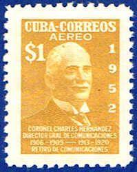 Cuba C72 Stamp - Colonel Sandrino Stamp - C CU C72-3 VLH