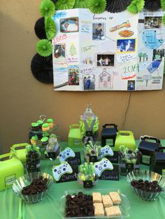 Candy buffet Xbox party