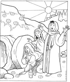 Empty tomb Coloring Page Inspirational the tomb is Empty Sunday School images sunday school Bible Crafts For Kids, Preschool Bible, Bible Activities, Sunday School Activities, Sunday School Lessons, Sunday School Crafts, Easter Coloring Sheets, Easter Colouring, Jesus Coloring Pages