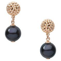 Effervescence Black Pearl Drop Earrings, Links of London Jewellery