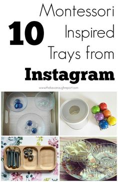10 Montessori inspired trays from Instagram